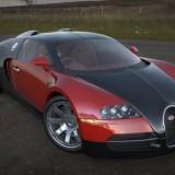 bugatti veyron 3d render using deserted moors at sunset spherical hdri map light probe image