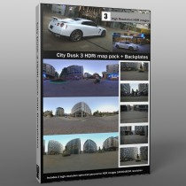 spherical hdri map pack bundle urban city at dusk