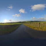 empty country road at sunset spherical hdri map