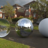 wet road in cloudy sunshine spherical hdri map render