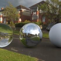 wet road in cloudy sunshine spherical hdri map render