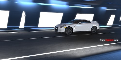 nissan gtr in tunnel hdri map