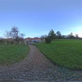 sunny day graveyard blue skies spherical hdri map