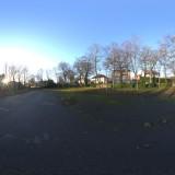overgrown car park sunny day hdri map