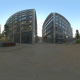 modern urban city buildings plaza at dusk spherical hdri map