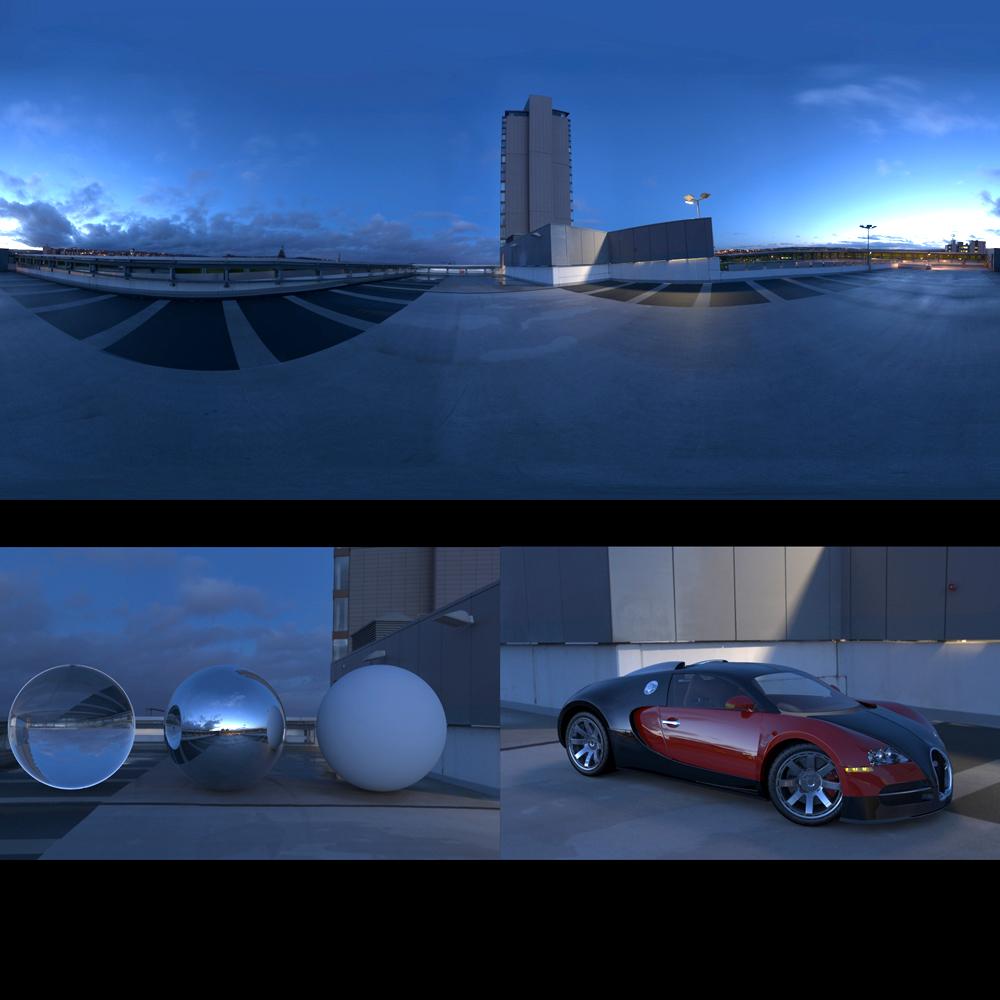 Panocapture » Car Park Roof Night 01