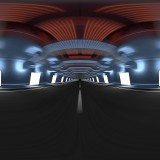 motion blurred glowing lights tunnel hdri map with backplates