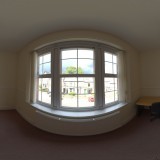 empty office room window spherical hdri map