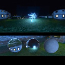 christmas tree lights spherical hdri map for 3d rendering