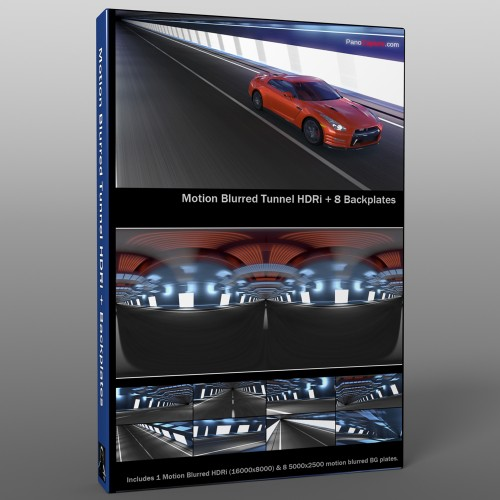 motion blurred tunnel backplate for automotive rendering and compositing