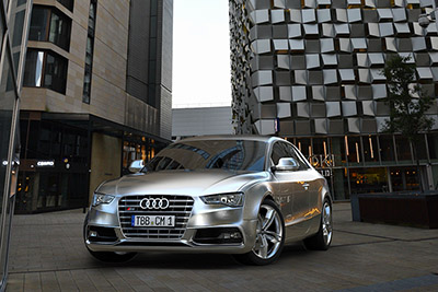 3D Artist Clemens Mielert rendered these images of the Audi S5 using the HDRi maps and backplates from the City Dusk 3HDRi pack