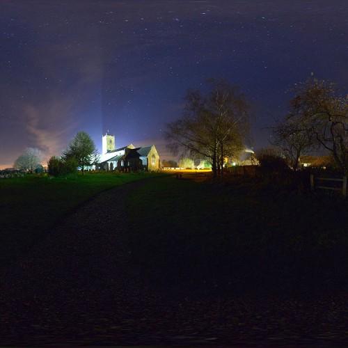 churchyard at night spherical hdri map