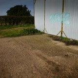 farm outbouilding sunny day blue skies hdri backplate image
