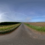 straight sunny road hdri map