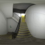 car park stairwell spherical hdri map