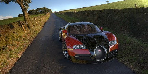 bugatti veyron rendered using hdri