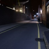 Urban side road at night streetlit moody backplate for HDRi map