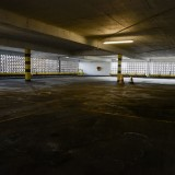 dirty indoor car park backround plate for hdri 3d rendering
